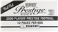 2009 Playoff Prestige Football Rack Pak 12-Pack Box