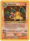 Pokemon Base Set 1 Single Charizard 4/102 - Shadowless SLIGHT PLAY (SP)