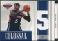 2009/10 Playoff National Treasures Colossal Materials Jersey Numbers #45 Josh Smith /99