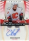 2006/07 Upper Deck Trilogy Ice Scripts #ISCK Chuck Kobasew Autograph