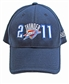 Oklahoma City Thunder Adidas 2011 Playoffs Flex Fit Hat (One Size Fits All)