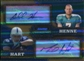 2008 Bowman Sterling Dual Autograph Gold Refractors #A13 Mike Hart Chad Henne Dual /25