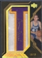 "2007/08 UD Black #LAWE Jerry West Patch Letter ""T"" Auto Gold #10/10"