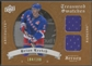 2008/09 Artifacts #TSDBL Brian Leetch Treasured Swatches Dual Jersey #184/199
