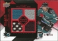 2008/09 Upper Deck Black Diamond Jerseys Quad Ruby #BDJMI Milan Michalek /100