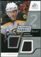 2008/09 Upper Deck SP Game Used Dual Authentic Fabrics #AFBG Patrice Bergeron
