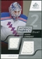 2008/09 Upper Deck SP Game Used Dual Authentic Fabrics #AFHL Henrik Lundqvist