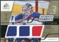 2008/09 Upper Deck SP Game Used Triple Authentic Fabrics Gold #3AFHL Henrik Lundqvist /25