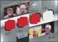 2008/09 Upper Deck SP Game Used Authentic Fabrics Quads #HDHC Hasek Draper Holmstrom Chelios /10