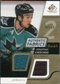 2008/09 Upper Deck SP Game Used Dual Authentic Fabrics Gold #AFCH Jonathan Cheechoo /50
