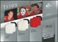 2008/09 Upper Deck SP Game Used Authentic Fabrics Trios #HEW Bobby Hull Tony Esposito Doug Wilson /25