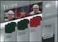 2008/09 Upper Deck SP Game Used Authentic Fabrics Trios #NGB Marian Gaborik PierreMarc Bouchard Owen Nolan /25