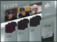 2008/09 Upper Deck SP Game Used Authentic Fabrics Trios #SPG Teemu Selanne Ryan Getzlaf Corey Perry /25