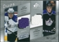 2008/09 Upper Deck SP Game Used Authentic Fabrics Duos #BJ Anze Kopitar Jack Johnson /100