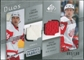 2008/09 Upper Deck SP Game Used Authentic Fabrics Duos #CR Chris Chelios Brian Rafalski /100