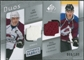 2008/09 Upper Deck SP Game Used Authentic Fabrics Duos #JP Joe Sakic Paul Stastny /100