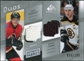 2008/09 Upper Deck SP Game Used Authentic Fabrics Duos #PC Dion Phaneuf Zdeno Chara /100