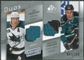 2008/09 Upper Deck SP Game Used Authentic Fabrics Duos #TC Joe Thornton Jonathan Cheechoo /100