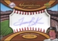 2007 Upper Deck Sweet Spot Signatures Red Stitch Blue Ink #TB Travis Buck Autograph /299