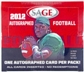 2012 Sage Autographed Football Hobby Box