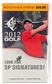 2012 Upper Deck SP Golf 8-Pack Box