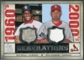 2008 Upper Deck SP Legendary Cuts Generations Dual Memorabilia #GC Bob Gibson Chris Carpenter