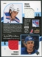 2009/10 Upper Deck MVP Two on Two Jerseys #JRTCS Matt Carle Kimmo Timonen Marc Staal Wade Redden