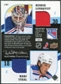 2009/10 Upper Deck MVP Two on Two Jerseys JTJLS Milan Jurcina Jose Theodore Henrik Lundqvist Marc Staal