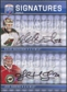2008/09 Upper Deck Be A Player Signatures Dual #S2BH Josh Harding / Niklas Backstrom Autograph