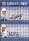 2008/09 Upper Deck Be A Player Signatures Dual #S2ME Alexander Edler / Willie Mitchell Autograph