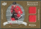 2008/09 Upper Deck Artifacts Treasured Swatches Dual #TSDJT Jonathan Toews /199