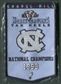 2010/11 Upper Deck UNC North Carolina Basketball 1993 Championship Mini-Banner