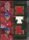 2007/08 Upper Deck OPC Premier Rare Remnants Triples Gold #PTHHK Cristobal Huet Chris Higgins Alex Kovalev /35
