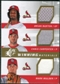 2009 Upper Deck SPx Winning Materials Triple #BCM Brian Barton Chris Carpenter Mark Mulder