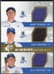 2009 Upper Deck SPx Winning Materials Triple #TGB Mark Teahen Zack Greinke Billy Butler