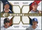 2009 Upper Deck SPx Winning Materials Quad #BDBM Ryan Braun/Chris Duncan/Rocco Baldelli/Nick Markakis