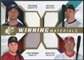 2009 Upper Deck SPx Winning Materials Quad #BUUB Ryan Braun/Dan Uggla/Chase Utley/Lance Berkman