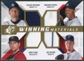 2009 Upper Deck SPx Winning Materials Quad #HRNB Trevor Hoffman/Mariano Rivera/Joe Nathan/Brad Lidge