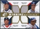 2009 Upper Deck SPx Winning Materials Quad #JTJF Chipper Jones/Mark Teixeira/Andruw Jones/Rafael Furcal