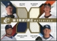 2009 Upper Deck SPx Winning Materials Quad #PLKL Jake Peavy/Tim Lincecum/Scott Kazmir/Francisco Liriano