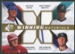 2009 Upper Deck SPx Winning Materials Quad #RRTD Jose Reyes Hanley Ramirez Troy Tulowitzki Stephen Drew