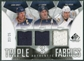 2009/10 Upper Deck SP Game Used Authentic Fabrics Triples #AF3ADW Jason Arnott J.P. Dumont Shea Weber /25
