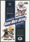 2002 Pacific Heads Up #49 Emmitt Smith, Ricky Williams, Ahman Green, & Curtis Martin Jersey