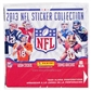 2013 Panini NFL Football Sticker Box - 50 packs!