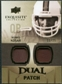 2010 Upper Deck Exquisite Collection Single Player Dual Patch #EDPBK Bernie Kosar /25