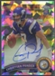 2011 Topps Chrome #165 Christian Ponder Rookie Crystal Atomic Refractor Auto #04/50
