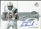2001 Upper Deck SP Authentic Sign of the Times #VT Vinny Testaverde SP Autograph