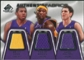 2007/08 Upper Deck SP Game Used Authentic Fabrics Triple #CBW Brian Cook/Kwame Brown/Luke Walton /50
