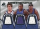 2007/08 Upper Deck SP Game Used Authentic Fabrics Triple #LRR David Lee/Nate Robinson/Quentin Richardson /50