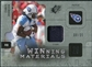 2009 Upper Deck SPx Winning Materials Patch Platinum #WJO Chris Johnson /25
